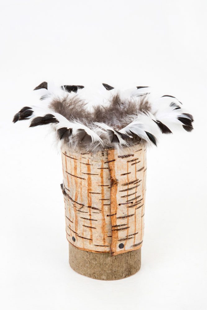 Bark-vessel-with-feathers