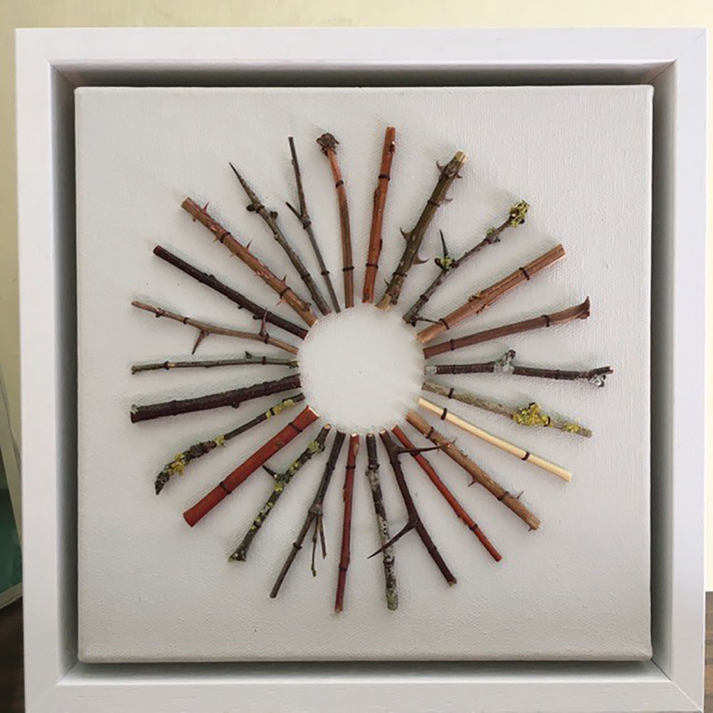 Collage-'Ring-of-Trees'-Framed
