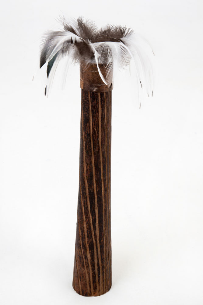 Eucalyptus-bark-and-feather-Vase