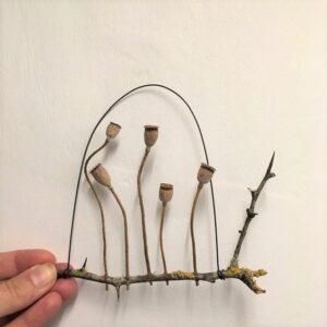 'Poppy Fields' Ht 13 x w 14 cms £28.00
