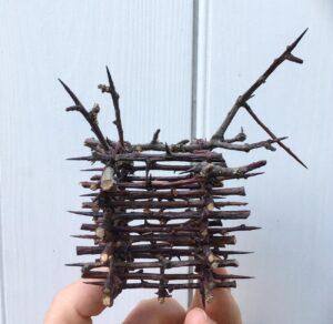 Thorn basket 8 x 6 cms £44.00