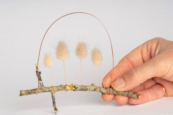 'Bunny grass' Ht 9 x w 13 cms £ £28.00