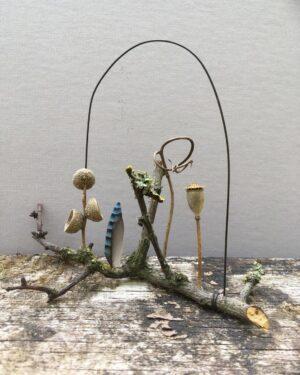 'Woodland forage' Ht 12 x w 14 cms £ 32.00